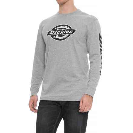 Dickies Graphic T-Shirt - Long Sleeve (For Men) in Grey - Closeouts