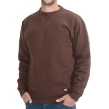 Dickies Heavyweight Fleece Sweatshirt - Crew Neck (For Men) in Chocolate Brown - Closeouts