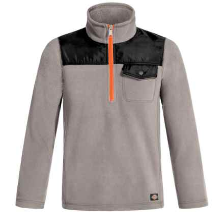 Dickies High-Performance Fleece Jacket - Zip Neck (For Boys) in Paloma Grey - Closeouts