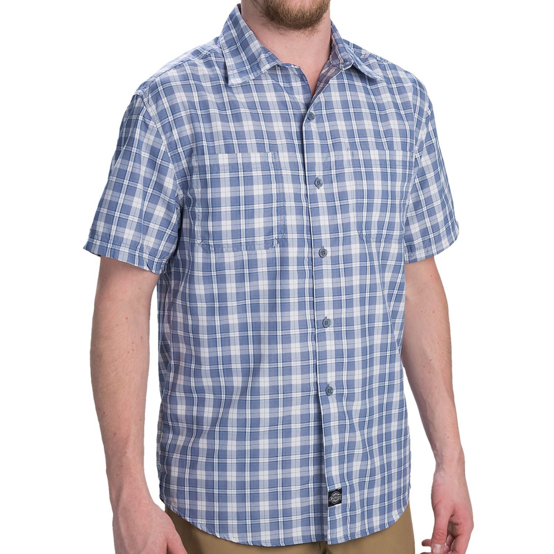 Dickies high performance plaid shirt short sleeve for for Dickies short sleeve plaid shirt
