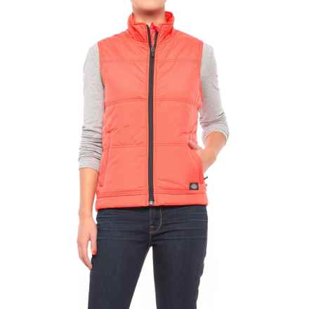 Dickies High-Performance Quilted Vest (For Women) in Papaya - Closeouts
