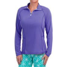 Dickies High-Performance Shirt - Zip Neck, Long Sleeve (For Women) in Electric Violet - Closeouts