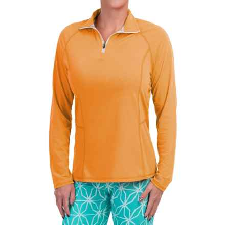 Dickies High-Performance Shirt - Zip Neck, Long Sleeve (For Women) in Marigold - Closeouts