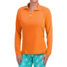 Dickies High-Performance Shirt - Zip Neck, Long Sleeve (For Women) in Orange - Closeouts