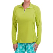 Dickies High-Performance Shirt - Zip Neck, Long Sleeve (For Women) in Wild Lime - Closeouts