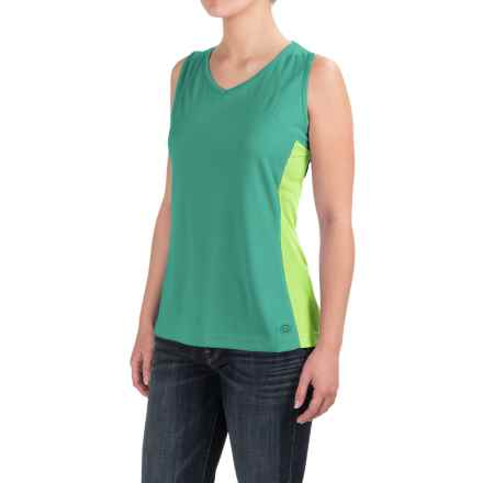 Dickies High-Performance Two-Tone Tank Top - UPF 40+ (For Women) in Bright Sea Green - 2nds