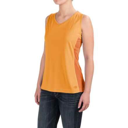 Dickies High-Performance Two-Tone Tank Top - UPF 40+ (For Women) in Marigold - 2nds