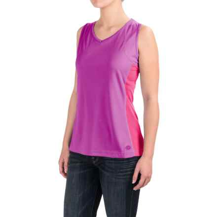 Dickies High-Performance Two-Tone Tank Top - UPF 40+ (For Women) in Pnik Berry - 2nds