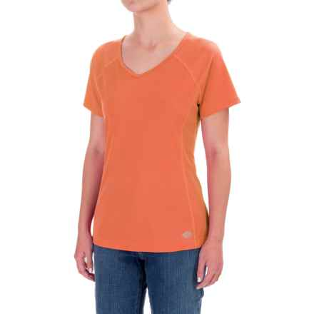 Dickies High-Performance V-Neck T-Shirt - Short Sleeve (For Women) in Mandarin - Closeouts