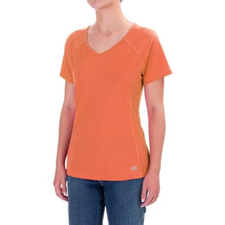 Dickies High-Performance V-Neck T-Shirt - Short Sleeve (For Women) in Mandarin