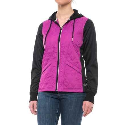 Dickies High-Performance Work Tech Fleece Puffer Jacket (For Women) in Pink Berry - Closeouts