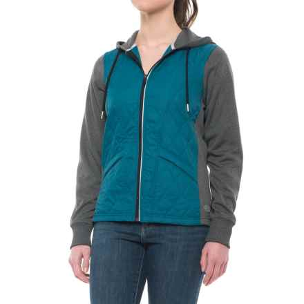 Dickies High-Performance Work Tech Fleece Puffer Jacket (For Women) in Teal - Closeouts