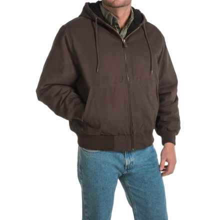 Dickies Hooded Sanded Duck Jacket - Insulated, Quilt Lined (For Men) in Chocolate Brown - Closeouts