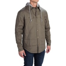 Dickies Hooded Shirt Jacket - Relaxed Fit (For Men and Big Men) in Light Sage - Closeouts
