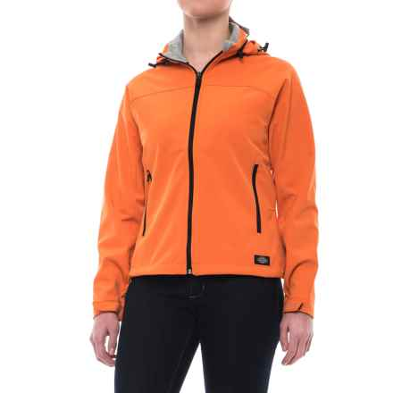 Dickies Hooded Soft Shell Jacket (For Women) in Mandarin - Closeouts