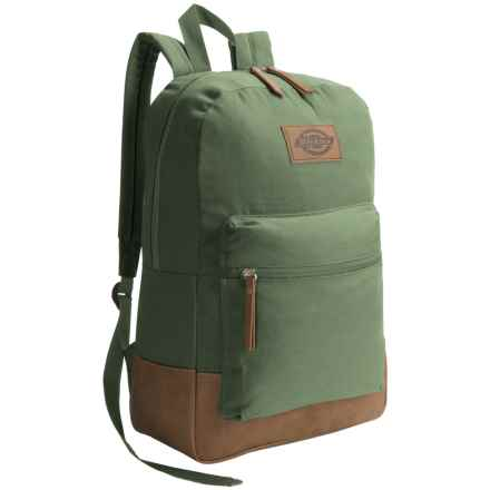 Dickies Hudson Canvas Backpack in Forest - Overstock