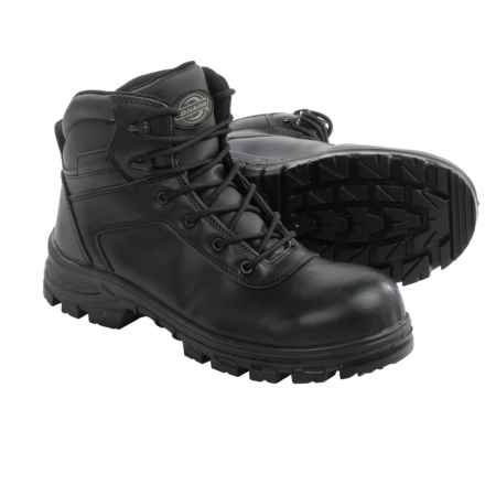 Dickies Lance EH Work Boots - Leather, Safety Toe (For Men) in Black - Closeouts