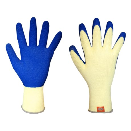 Dickies Latex-Coated Gloves (For Men and Women) in Yellow/Blue