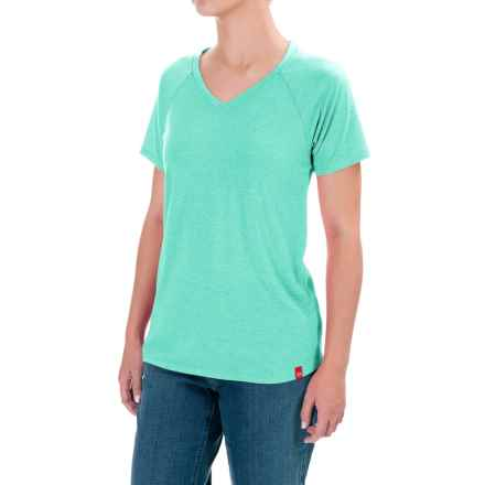 Dickies Lightweight Knit T-Shirt - Short Sleeve (For Women) in Awqua Jade Heather - Closeouts