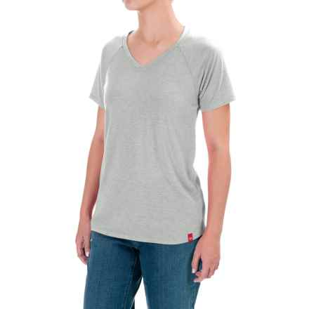 Dickies Lightweight Knit T-Shirt - Short Sleeve (For Women) in Quarry Heather - Closeouts