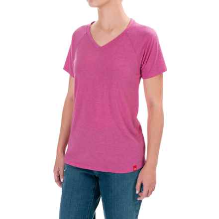 Dickies Lightweight Knit T-Shirt - Short Sleeve (For Women) in Velvet Punch Heather - Closeouts