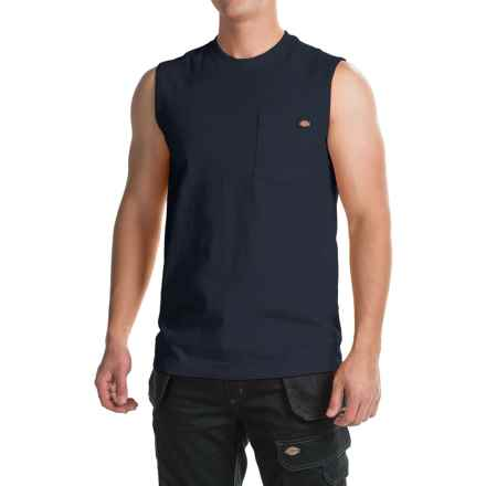 Dickies Muscle T-Shirt - Sleeveless (For Men) in Dark Navy - Closeouts