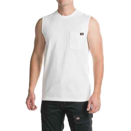 Dickies Muscle T-Shirt - Sleeveless (For Men) in White - Closeouts