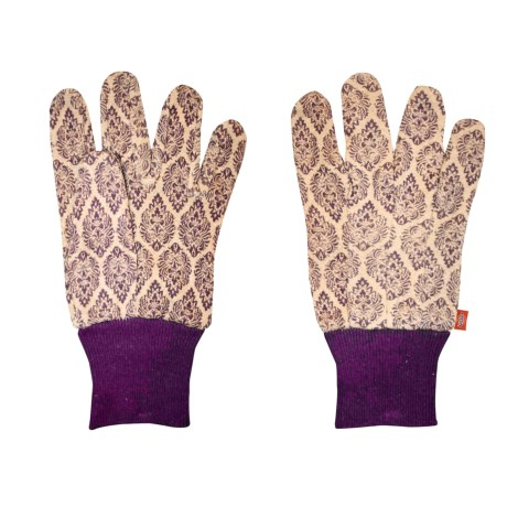Dickies Patterned Cotton Jersey Garden Gloves (For Women) in Purple