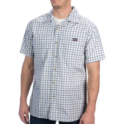 Dickies Plaid Camp Shirt - Short Sleeve (For Men) in White