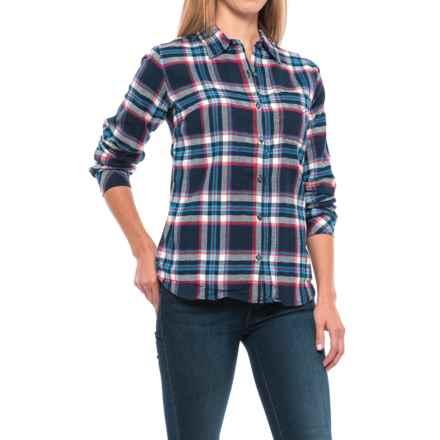 Dickies Plaid Flannel Shirt - Long Sleeve (For Women) in Black Iris/Texas Topaz Plaid - Closeouts