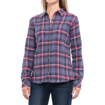 Dickies Plaid Flannel Shirt - Long Sleeve (For Women) in Blue Violet/White Queen Plaid - Closeouts