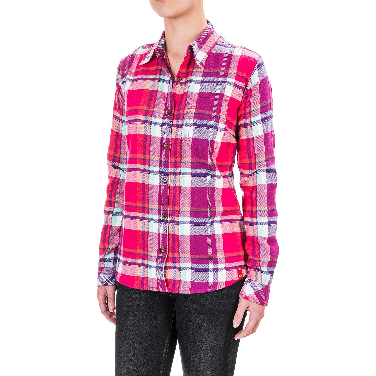 Dickies Plaid Flannel Shirt (For Women) - Save 53%