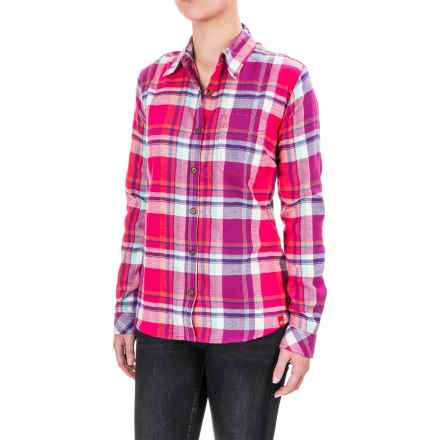 Dickies Plaid Flannel Shirt - Long Sleeve (For Women) in Jazzy Coral Reef/Petunia Aqua Plaid - Closeouts