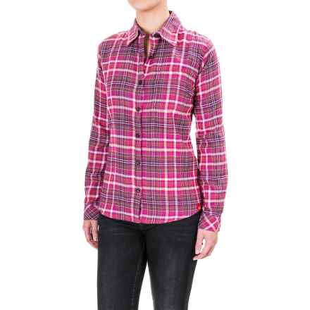 Dickies Plaid Flannel Shirt - Long Sleeve (For Women) in Pink Berry/Mandarin Petunia Plaid - Closeouts