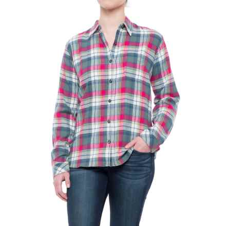 Dickies Plaid Flannel Shirt - Long Sleeve (For Women) in Sequoia/Raspberry Plaid - Closeouts