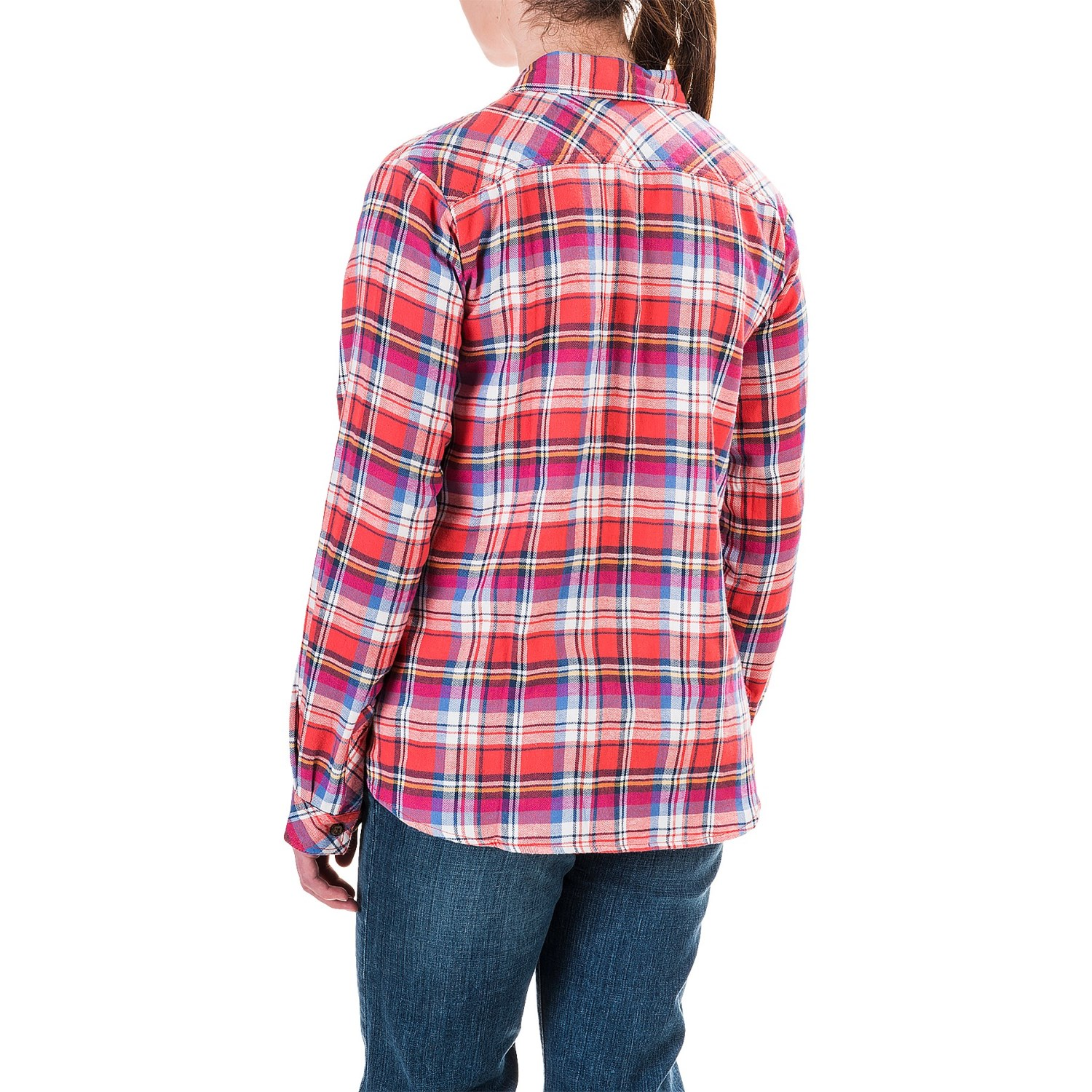Dickies plaid flannel shirt for women save 69 for Long plaid flannel shirt