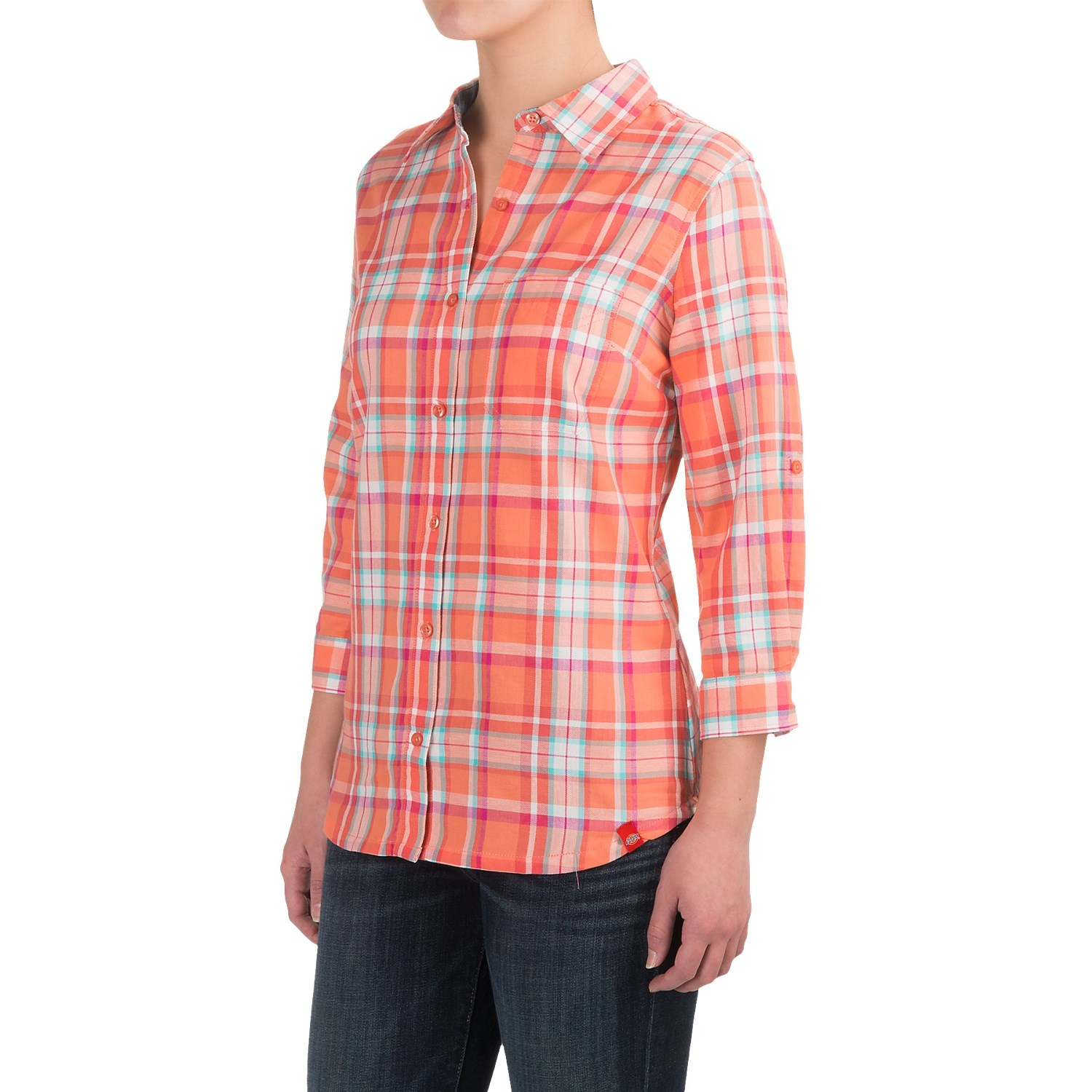 d801470a2bc Dickies Plaid Roll-Up Shirt - Elbow Sleeve (For Women)