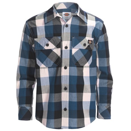Dickies Plaid Shirt Long Sleeve (For Boys)