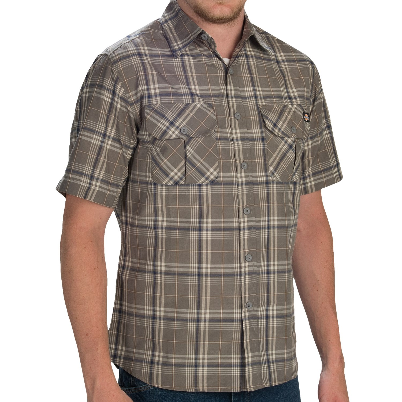 Dickies plaid shirt for men save 66 for Dickies short sleeve plaid shirt