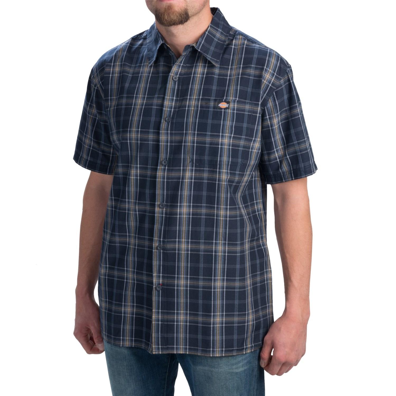Dickies plaid square bottom shirt for men save 63 for Dickies short sleeve plaid shirt