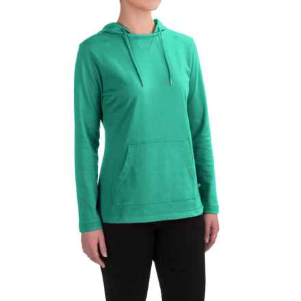 Dickies Plaited Jersey-Knit Hoodie (For Women) in Bright Sea Green - 2nds
