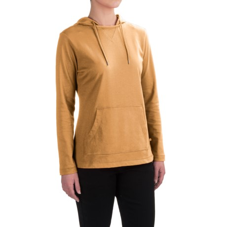 Dickies Plaited Jersey-Knit Hoodie (For Women) in Marigold