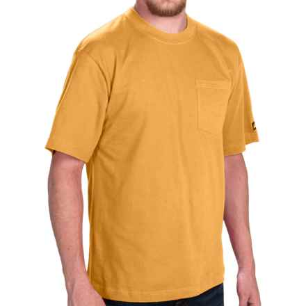 Dickies Pocket T-Shirt - 2-Pack, Cotton, Short Sleeve (For Men) in Citrus Yellow - Closeouts