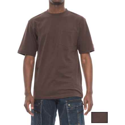 Dickies Pocket T-Shirt - 2-Pack, Short Sleeve (For Men) in Chocolate Brown - Closeouts