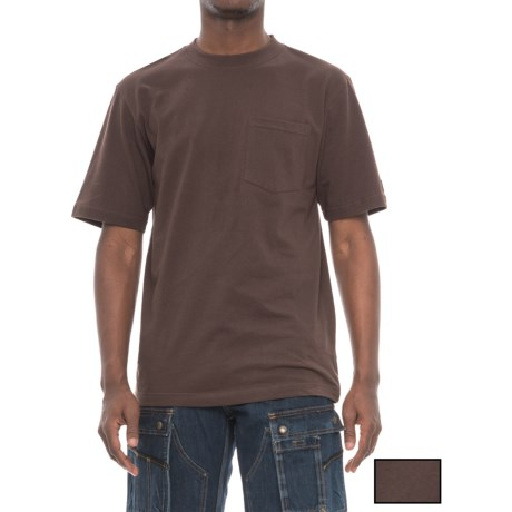 Dickies Pocket T-Shirt - 2-Pack, Short Sleeve (For Men) in Chocolate Brown