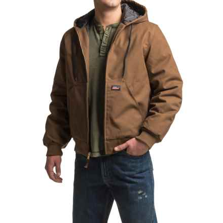 Dickies Quilt-Lined Duck Jacket - Insulated, Hooded (For Men) in Timber - Closeouts