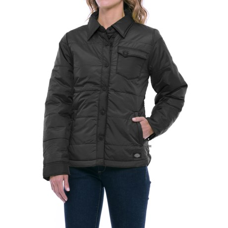 Dickies Quilted Jacket - Insulated (For Women) in Black