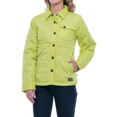 Dickies Quilted Jacket - Insulated (For Women) in Wild Lime