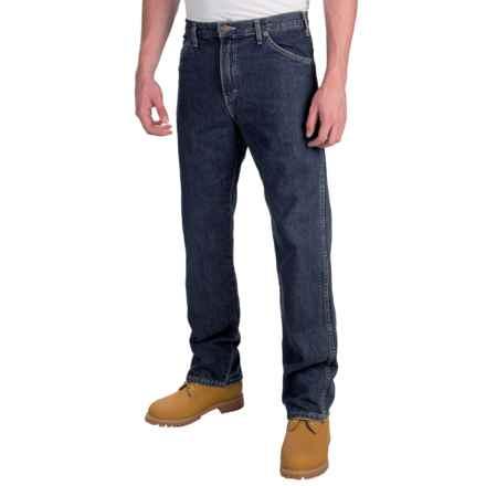 Dickies Regular 6-Pocket Jeans - Straight Leg (For Men) in Rinsed Indigo Blue - 2nds