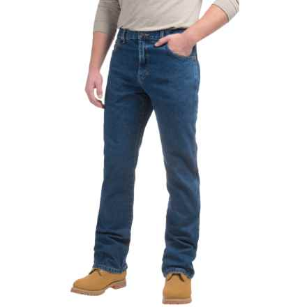 Dickies Regular Fit Bootcut Jeans - 5-Pocket (For Men) in Stonewashed Indigo Blue - Closeouts